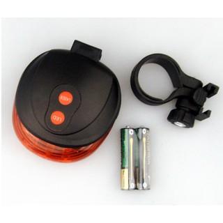 自行車雷射激光安全尾燈 超亮5LED 安全警示燈 自行車配件