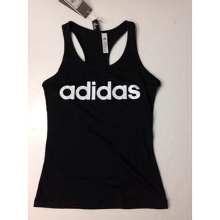 愛迪達 adidas 女款 運動背心 運動上衣 運動罩衫 黑白配 尺寸XS~XL