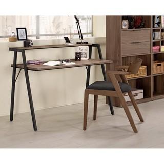 日式風格防蛀木心板耐水耐磨浮雕壓紋簡單款雙層110cm書桌/工作桌 書桌