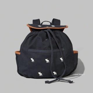 全新正品Abercrombie&Fitch; A&F; kids moose logo 經典 刺繡 麋鹿 水桶帆布後背包