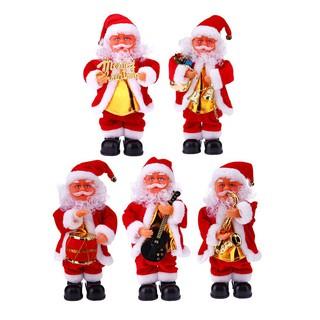 聖誕飾品 新款電動聖誕帶音樂聖誕老人 耶誕節日裝飾品 聖誕禮盒裝電動老人