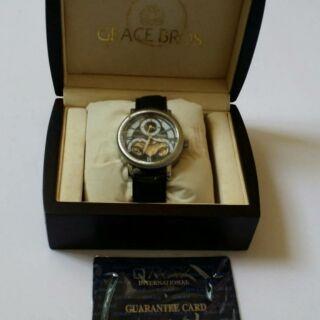 OMAX前後全鏤空自動上鍊機械錶