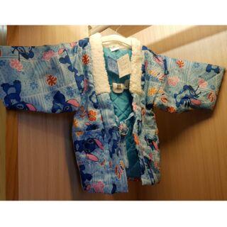史迪奇 可愛 日本浴袍 浴衣 童裝 110cm