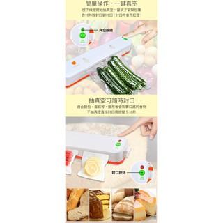 ~銓聖~家用迷你真空機送真空紋路袋10 入封口機食品收納廚房保鮮機包裝機~H