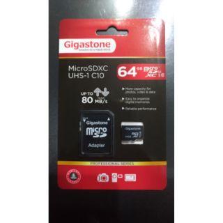 Gigastone 立達 MicroSD MicroSDXC 64GB 64G UHS1 C10 80MB/S 記憶卡