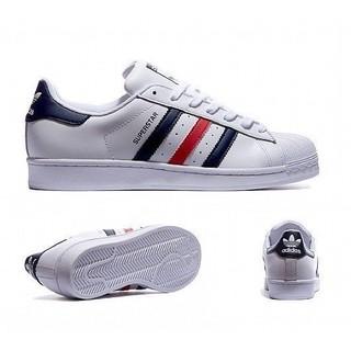 Adidas Original Superstar 三色旗 貝殼頭 復古 休閒 皮革 男女鞋 S79208