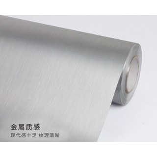 加厚防水PVC自黏翻新貼紙/有背膠金屬質感翻新壁貼/壁紙/銀色金屬翻新櫥櫃貼紙