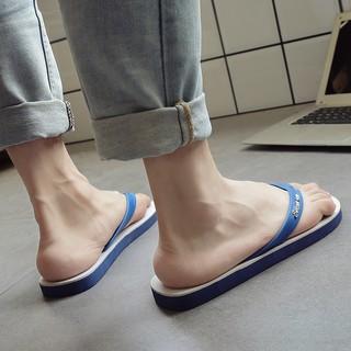 復古拖鞋男夏季泰國藍白人字拖男士防滑橡膠潮拖鞋沙灘夾腳涼拖鞋