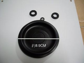 熱水器修理零件 水盤皮 8.9cm 莊頭北型 附兩止水墊片