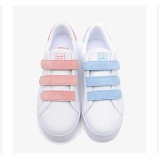 韓國正品 FILA代購 新品 魔鬼氈板鞋(粉/藍)FS1SIZ3061F