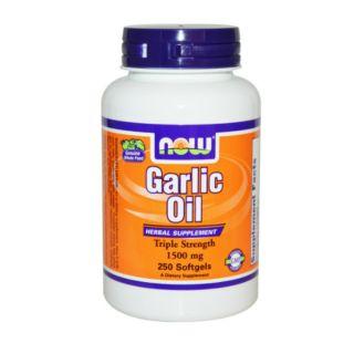 大蒜油大蒜精NOW健而婷-加倍濃縮大蒜精華 garlic (250顆)