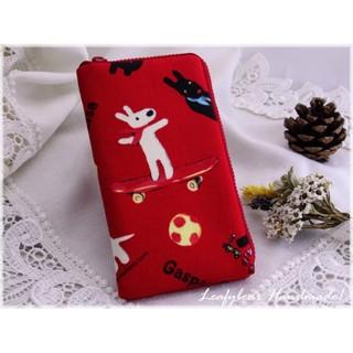 麗莎與卡斯柏(嬉戲篇-紅色) L型拉鍊手機袋-iphone6/6s/7&iphone6/7Plus其他廠牌型號皆可訂製