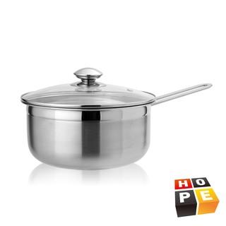 【德國HOPE歐普】輕量化不鏽鋼單柄湯鍋20CM