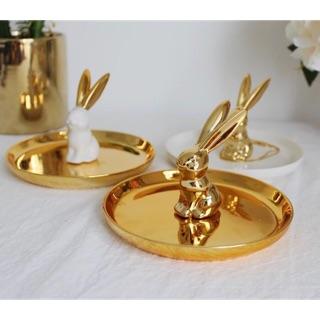 (附實拿圖)兔兔歐美陶瓷首飾盤收納盤盤