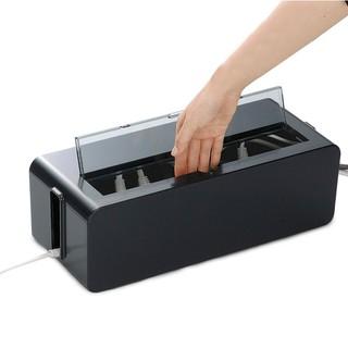 aii電線收納盒 電源線插座插排插板整理集線盒 電腦線充電器線理線盒