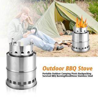 戶外野營 野餐 生存燒烤 燒爐  不銹鋼 分體野炊 燒烤爐