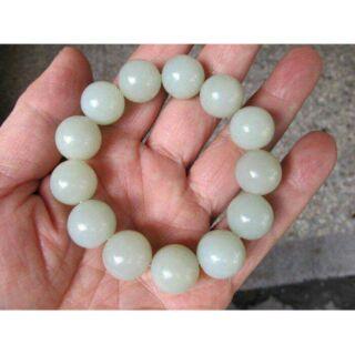 頂級老和闐羊脂白玉手珠