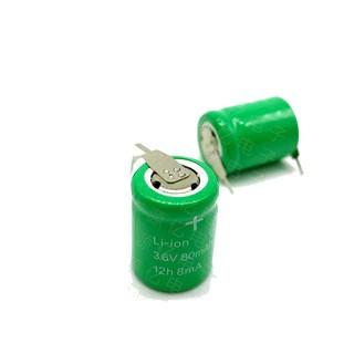 全新NI-MH鎳氫3.6V80mAh充電電池 3.6V 80mAh 手搖電筒時鐘電子稱 w86 。