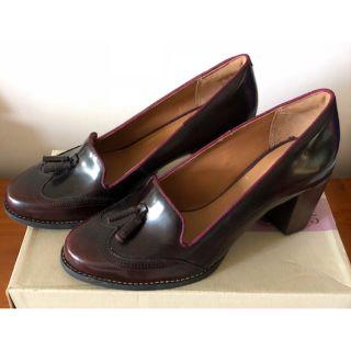 [全新] Clarks女鞋 粗跟高跟鞋 酒紅色 Tarah Rosie 23.5 (UK 4/ EUR 37)