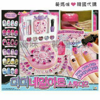 可超取韓國境內版 mimi 美甲 仿真 彩繪指甲 DIY 製作 指甲油 提包指甲機 玩具 遊戲組 家家酒