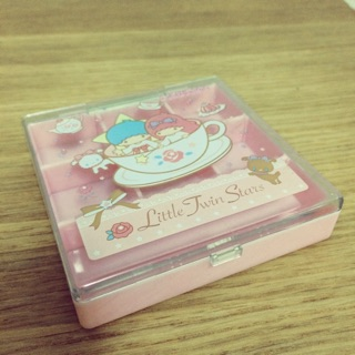 Kikilala雙子星粉色藥盒(耳環收納盒)