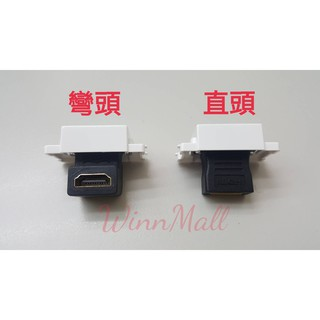 【WinnMall】HDMI模組 彎頭 90° HDMI 資訊座 面板盒
