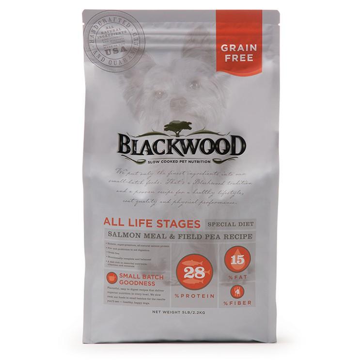 柏萊富 BLACKWOOD 無穀全齡低敏挑嘴配方(鮭魚+豌豆) 狗糧/狗飼料 2.2/6.8/13.6公斤