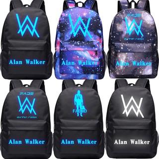 夜光艾倫沃克書包faded同款背包Alan Walker男女學生帆布雙肩包DJ%$quhgf$%