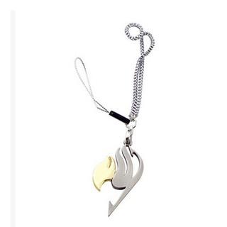 妖精的尾巴鑰匙扣動漫周邊手機鏈 項鍊 多顏色選哈比妖精的尾巴紋
