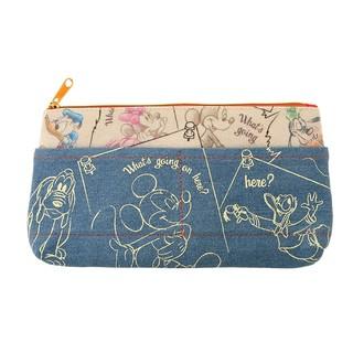 *♥:·.棒棒糖日本連線·:*✡米奇 好朋友 筆袋/日本迪士尼限定