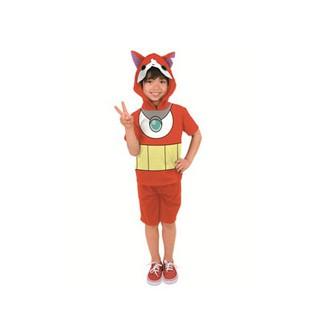 *小栗鼠散步鋪*日本帶回 妖怪手錶 吉胖喵 兒童 幼兒 帽T 排汗衫 變身服 短袖上衣 聖誕節 表演 角色扮演