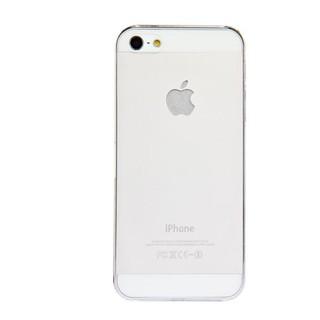 10套iphone 5 0.5mm超薄磨砂半透硬殼(白)和貼膜的組合