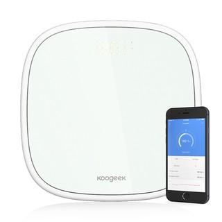 Koogeek 智慧體重秤 藍牙同步資料體重追蹤LED顯示幕 白色[不支持貨到付款]