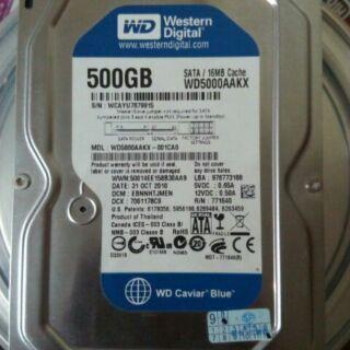 WD 藍標 500GB 硬蝶 WD5000AAKX 500G