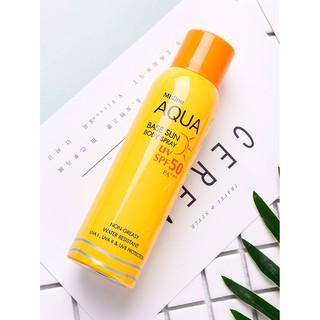 泰國Mistine防曬噴霧spf50黃色黃瓶補水噴霧美白全身不油膩防曬霜