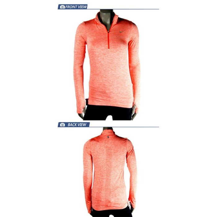 NIKE 耐吉DRI-FIT KNIT 1/2 ZIP TOP 路跑長T 女 659487696