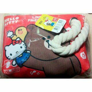 Hello Kitty&Line熊大 化妝包 筆袋 現貨
