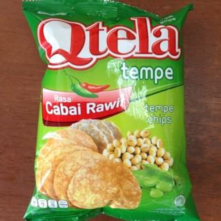 Qtela 印尼進口食品 天貝 脆乾 tempe 辣味/原味 55gr