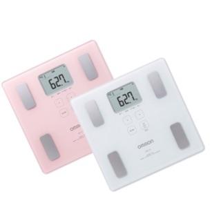 正品OMRON歐姆龍體重體脂計HBF-217(粉色)