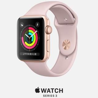 Apple Watch Series 3 GPS,42mm金色鋁金屬錶殼/粉沙色運動錶帶