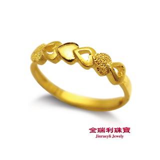 金瑞利珠寶9999 純金心連心0 56 錢黃金戒指開運尾戒寵愛自己不敗 款公主必買情人節送