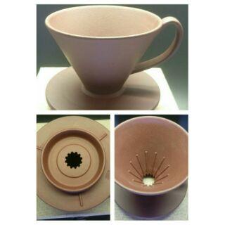 紫砂  1-2人份 素面 咖啡 濾杯 kono 短溝