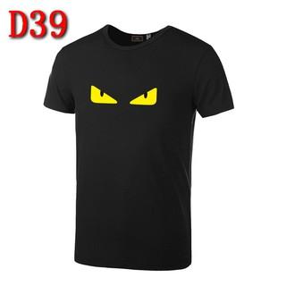 4 件1 千FENDI 芬迪短袖T 恤情侶短袖短T 半截袖休閒上衣 短T 怪獸眼睛短袖素T