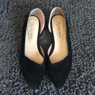 二手女鞋 黑色 平底 包鞋