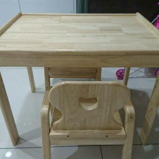 實木桌椅成長書桌椅