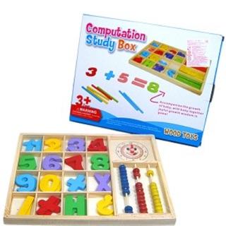 兒童節禮品-木製積木數學學習組
