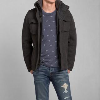 Abercrombie & Fitch A&F 羊毛軍裝外套 M號