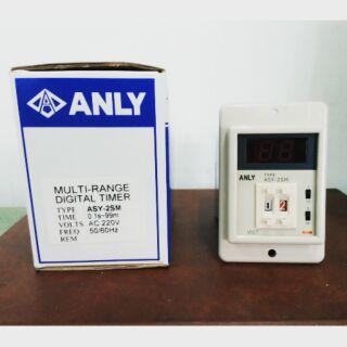 【新承】ANLY ASY-2SM 2位數 數字限時繼電器 AC220V 0.1S~99M可調