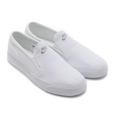 【蟹老闆】【現貨】NIKE TOKI SLIP TXT 懶人鞋 素面 無鞋帶 白色 男女情侶鞋