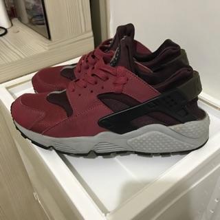 售二手Nike air huarache 武士鞋 紅  us9